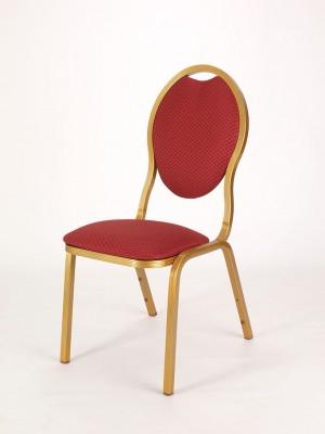 Lipone Aluminium Spoonback Banqueting Chair - Gold Frame