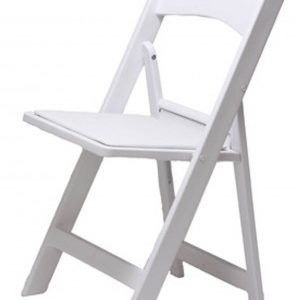 Pasene Resin Commercial Quality Folding Chair - White Fully Assembled