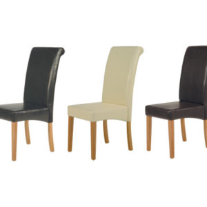 Tableau Leather Chairs Set Of 2
