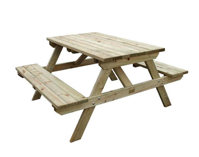 Raysoni Wooden Picnic Garden Outdoor Bench 4Ft