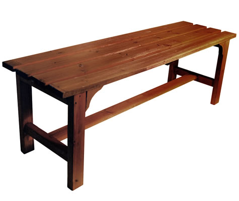 Dolly Solid Wood Garden Bench - Burntwood