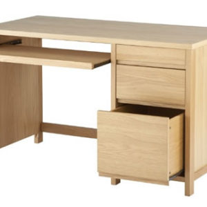 Venice White Oak Veneer Country Workstation Office Desk