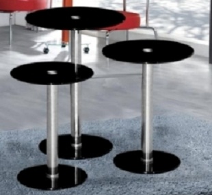 Bario Nest Of Black Glass Tables