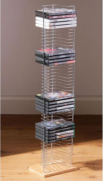 Pingo Free Standing DVD Storage Rack - Silver