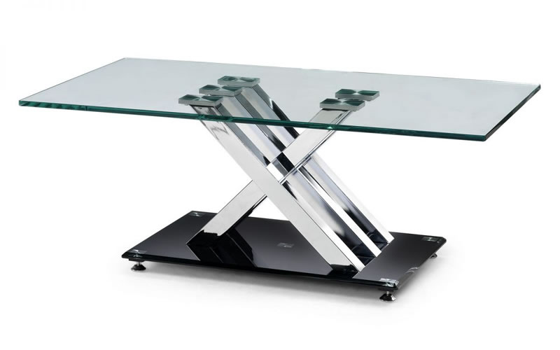 Axo Chrome And Glass Coffee Table