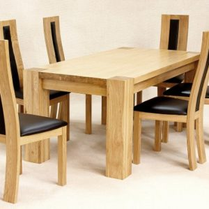Zento Solid Oak Rectangle Dining Set