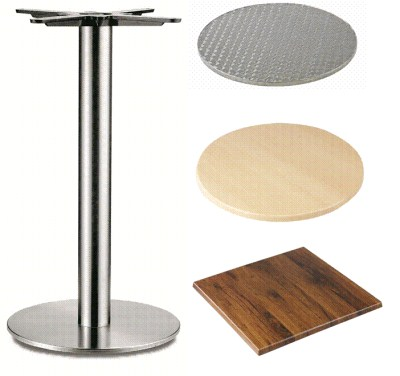 Carla Stainless Steel Table - Round Base