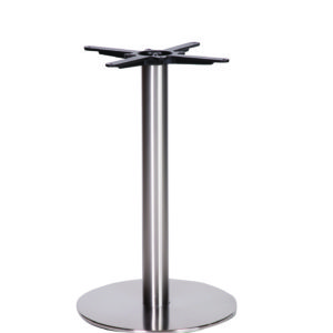 Daniella Brushed Steel Round Table Base