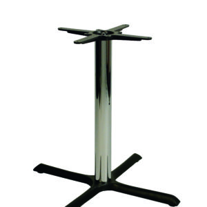 Elliot Black And Chrome Cruciform Table Base