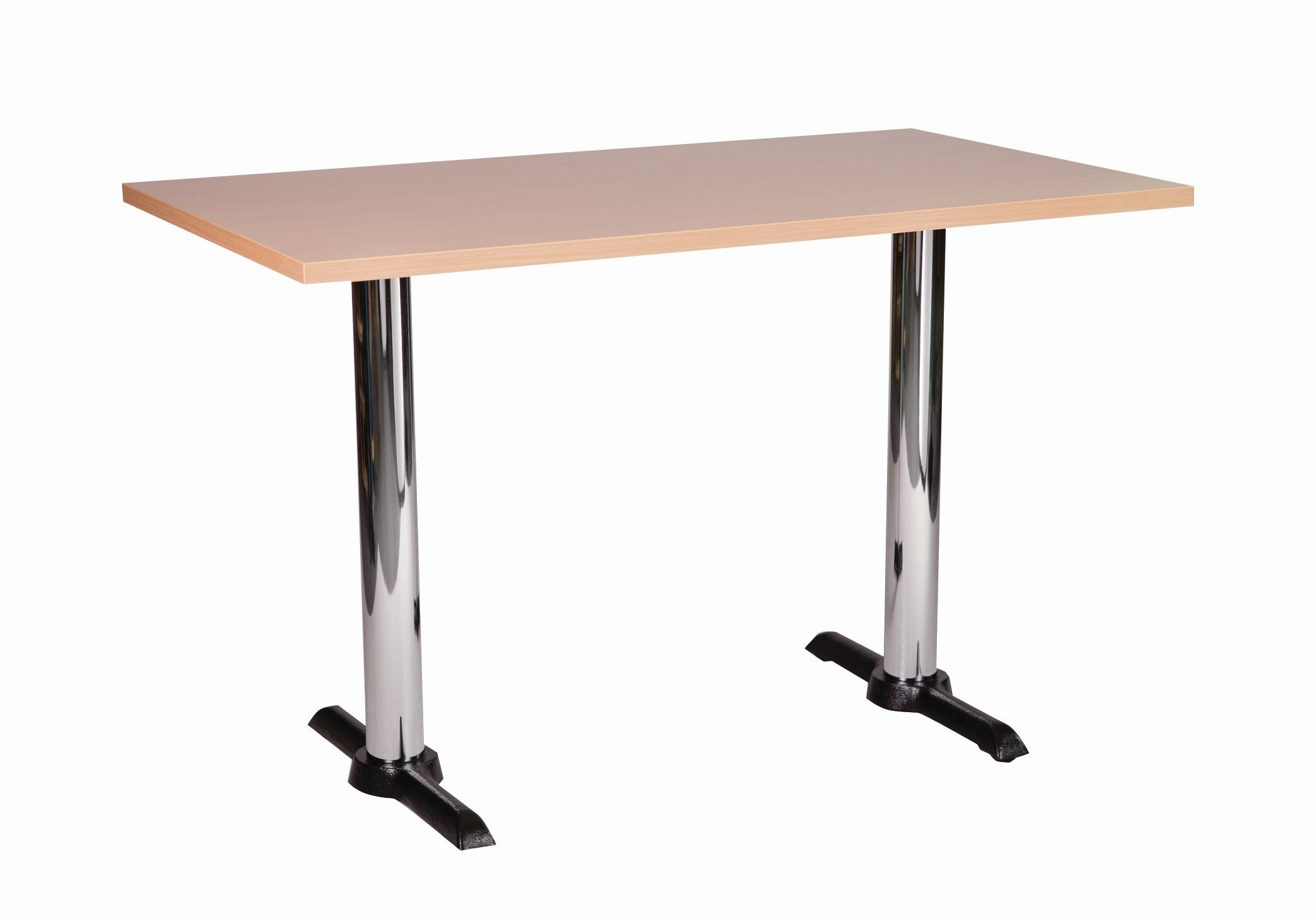 Elliot Chrome Twin Dining Base And Rectangular Top