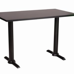 Elliot Black Twin Dining Base And Sm France Rectangular Top