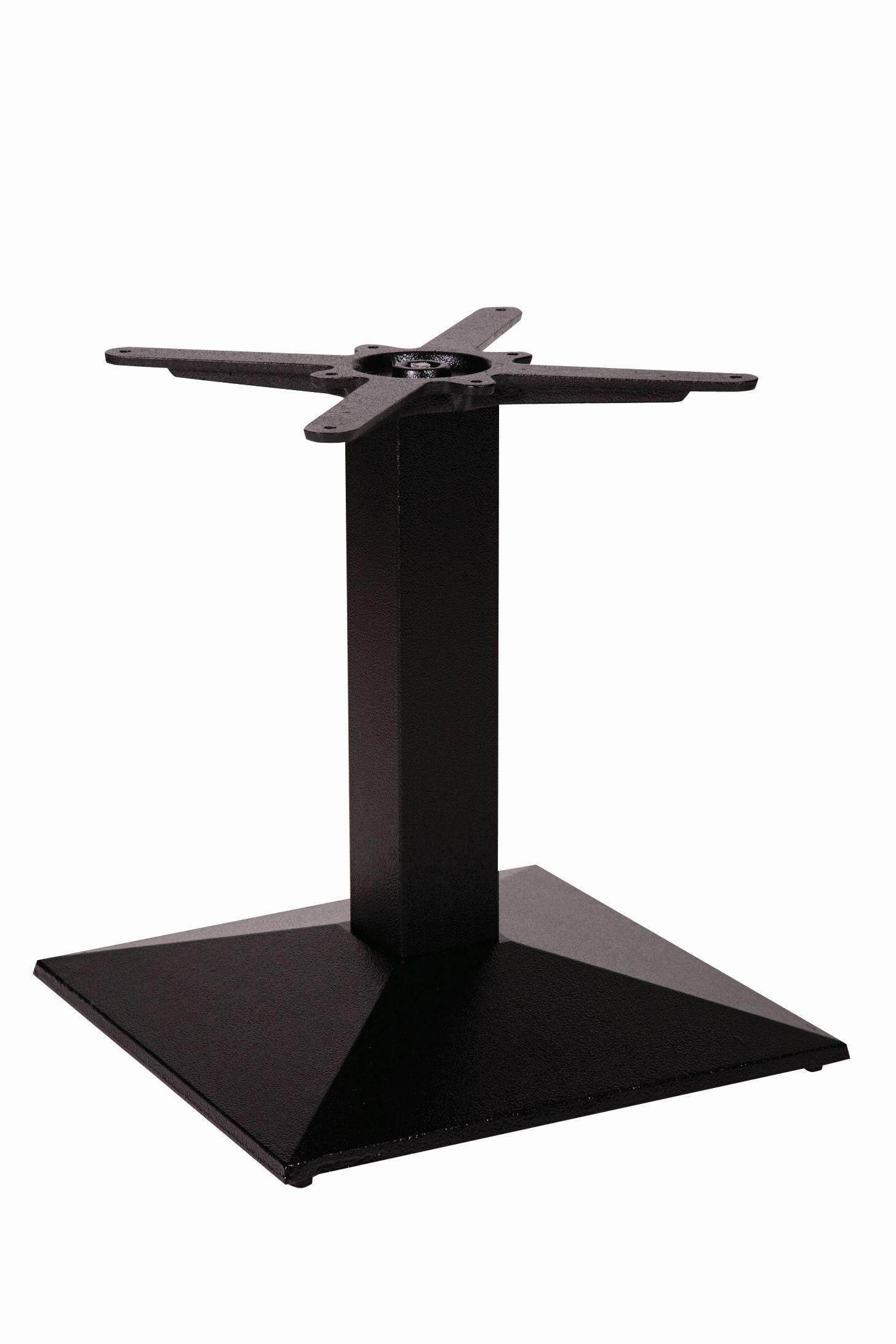 Quadric Cast Iron Single Pedestal Commercial Bar Table Base