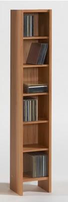 Opny Beech Hardwood Cd Dvd Storage Unit Tower Rack