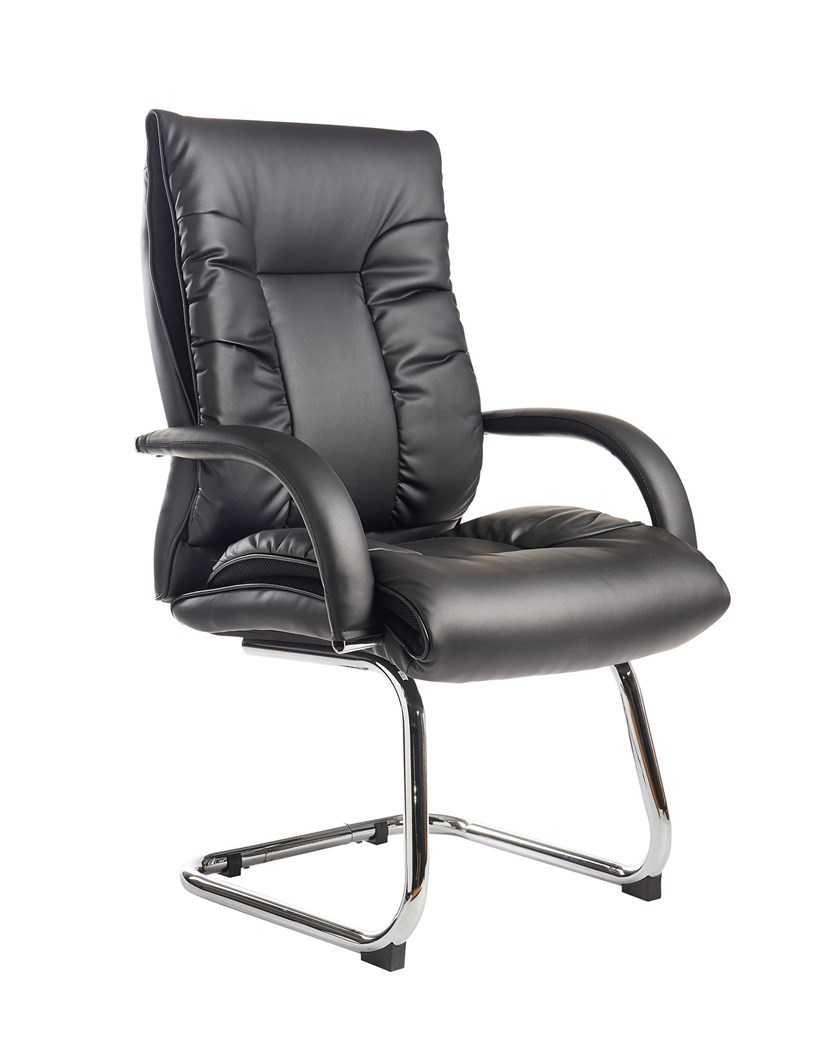 Mcall Black Faux Leather Executive Visitor Chair