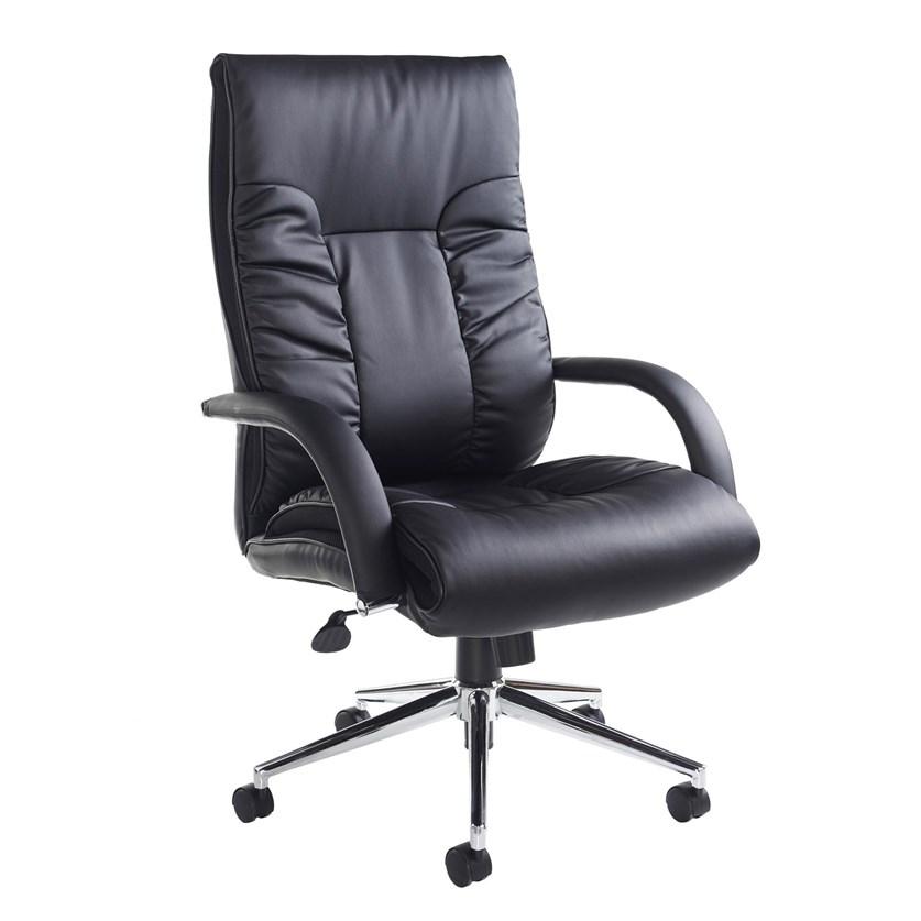 Derba Faux Leather Swivel Office Chair