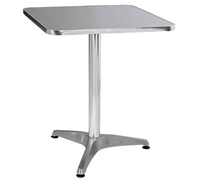 Bistro Square Aluminum Table
