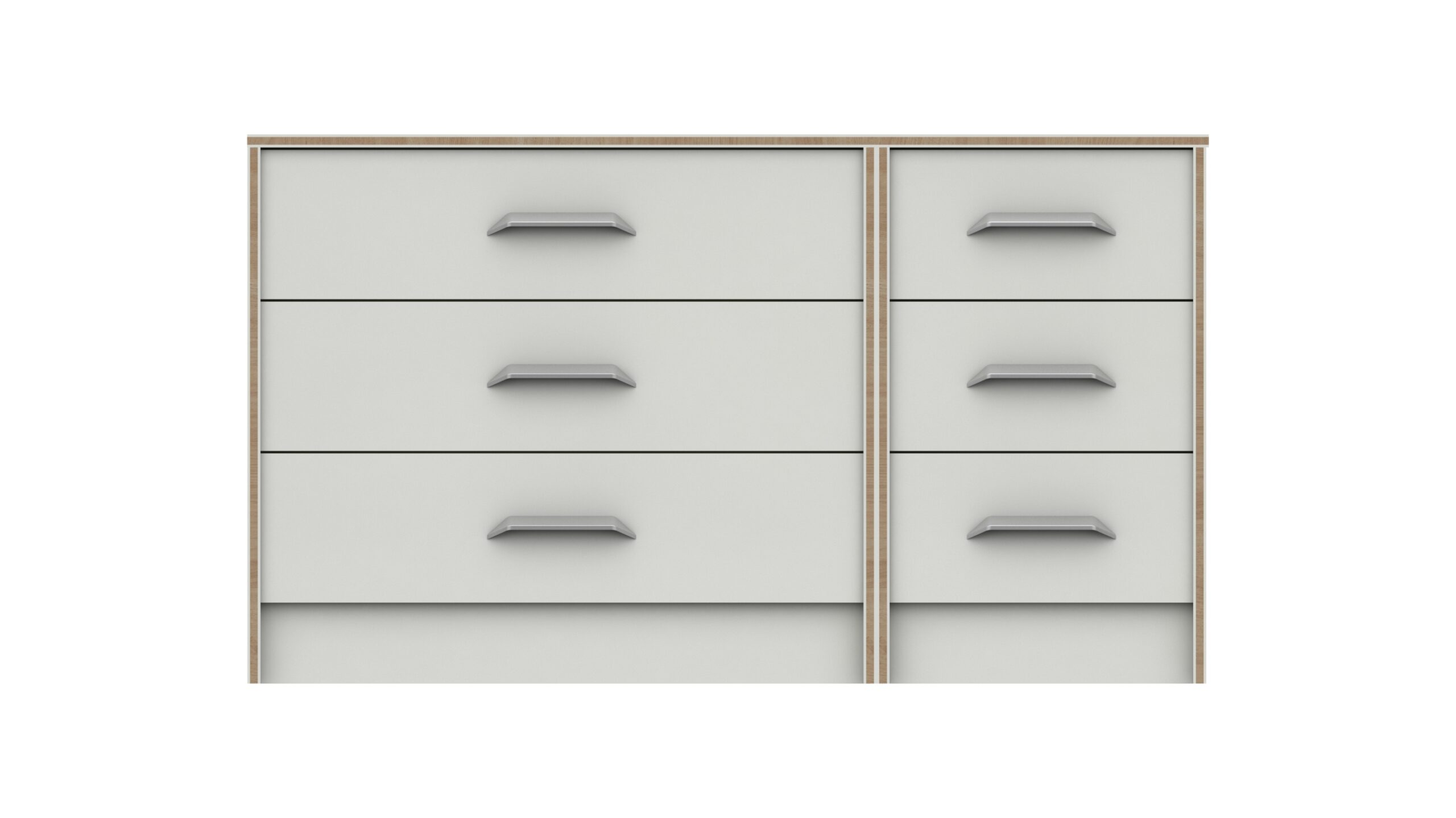 Marianne 3 Drawer Double Chest - White