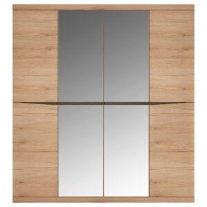 Kira 4 Door Wardrobe with 2 Mirror doors