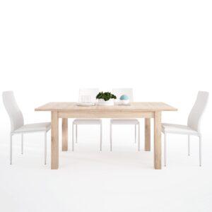 Kira Dining set package Kira Extending Dining Table + 6 Lillie High Back Chair White