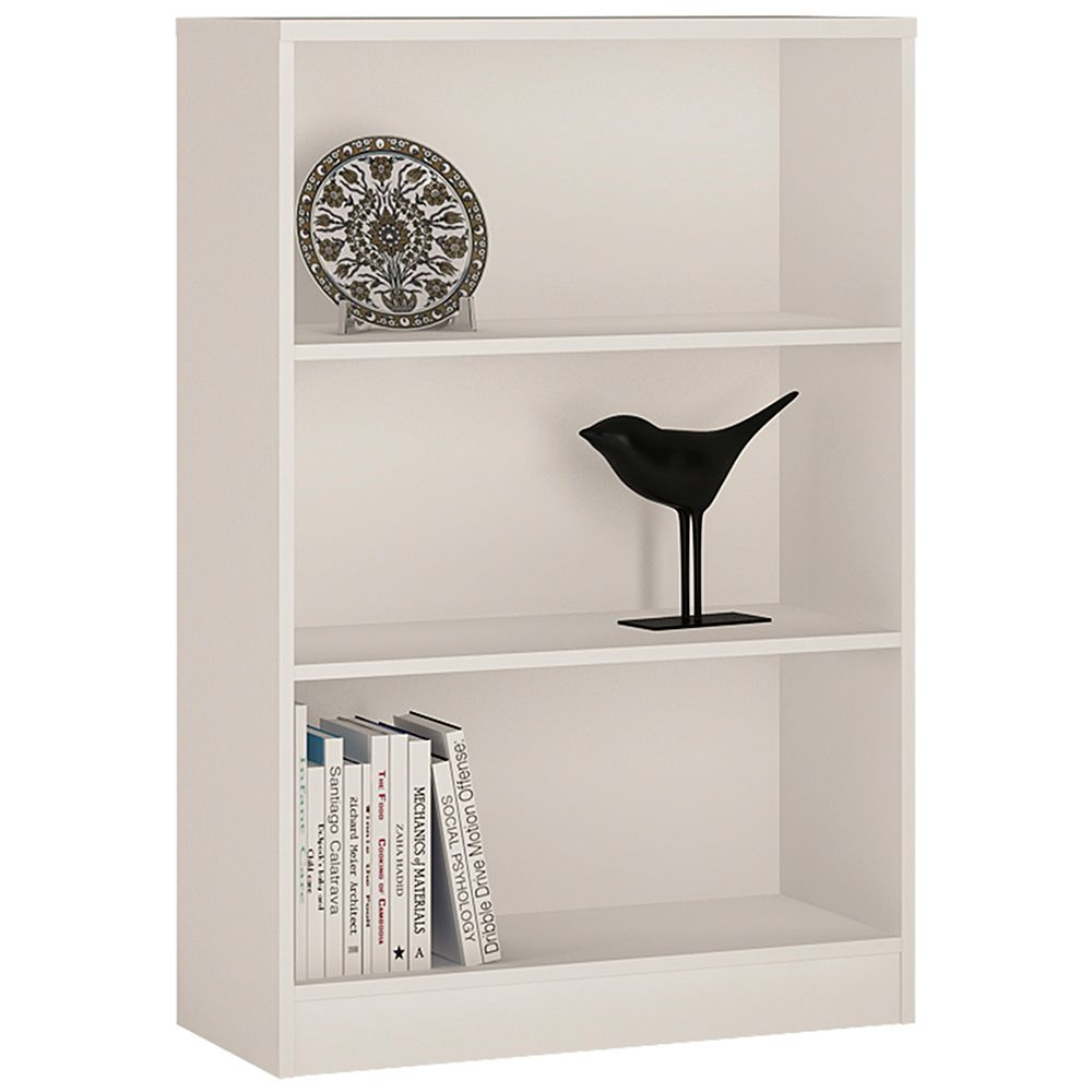 Yours White Medium Wide Bookcase