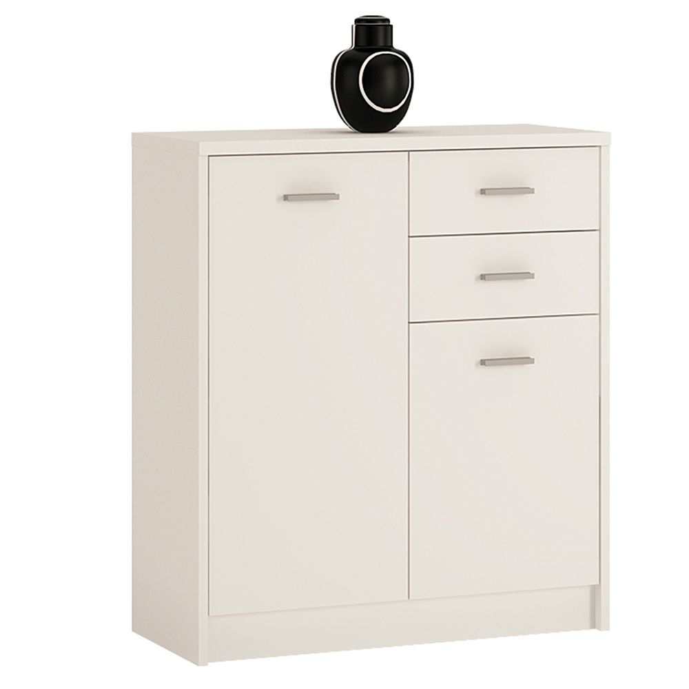 Yours White 2 Door 2 drawer Cabinet
