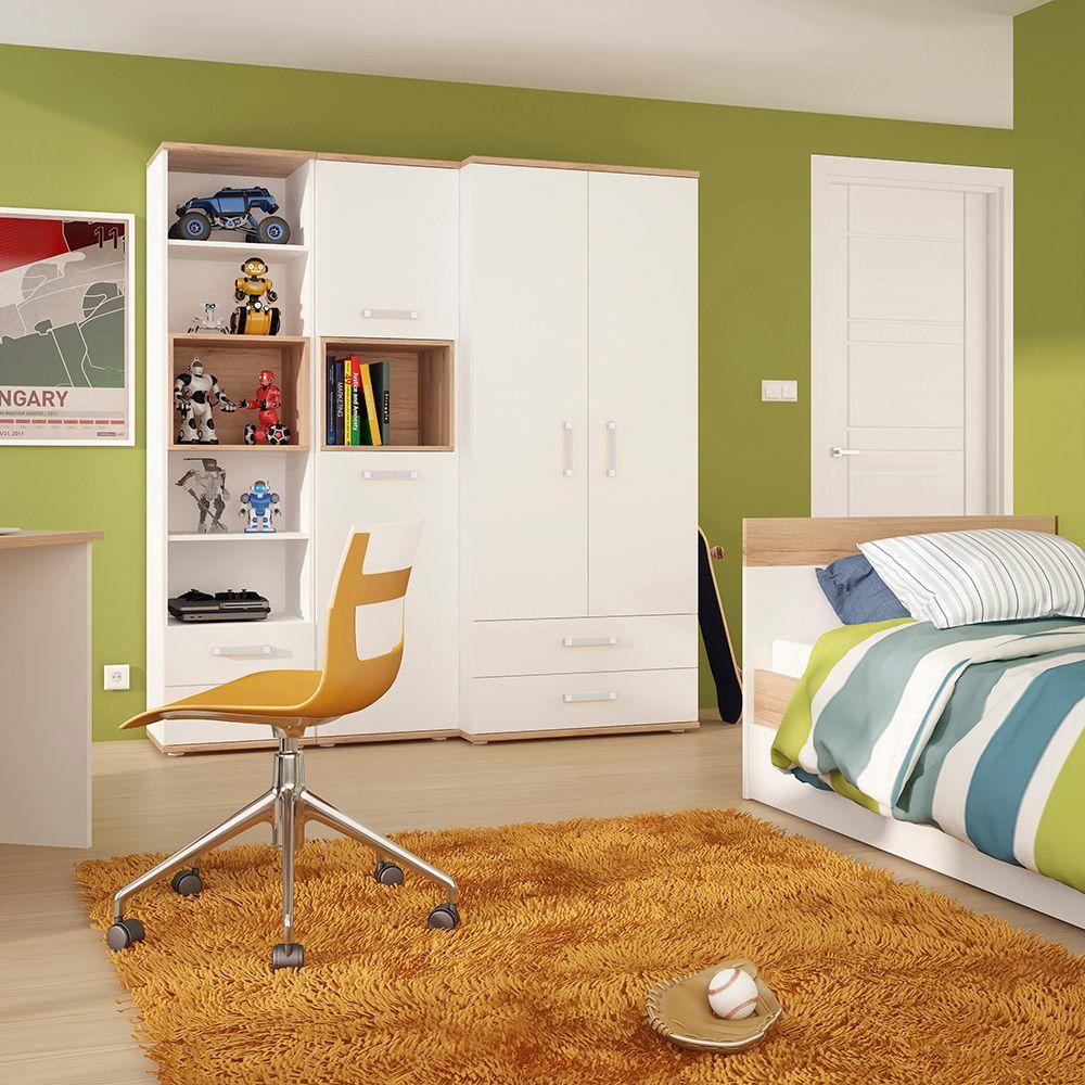 Kiddie Tall 2 Door Cabinet - Opalino Handles
