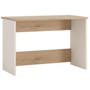 Desk in light oak and white high gloss