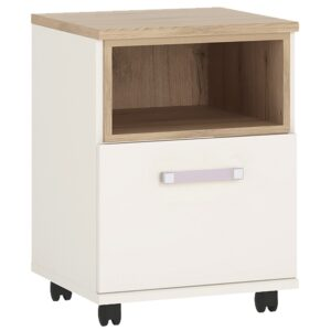 Kiddie 1 bedside table with lilac handles