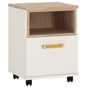 Kiddie 1 door desk mobile with orange handles