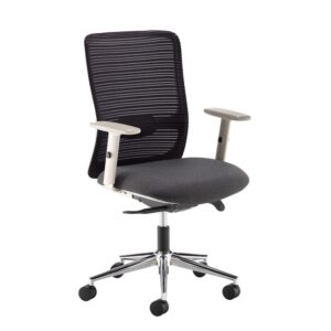 Pacifica black mesh back operator chair with black fabric seat