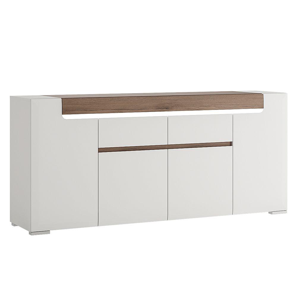 Canada Wide 4 Door 2 Drawer Sideboard (inc Plexi Lighting)