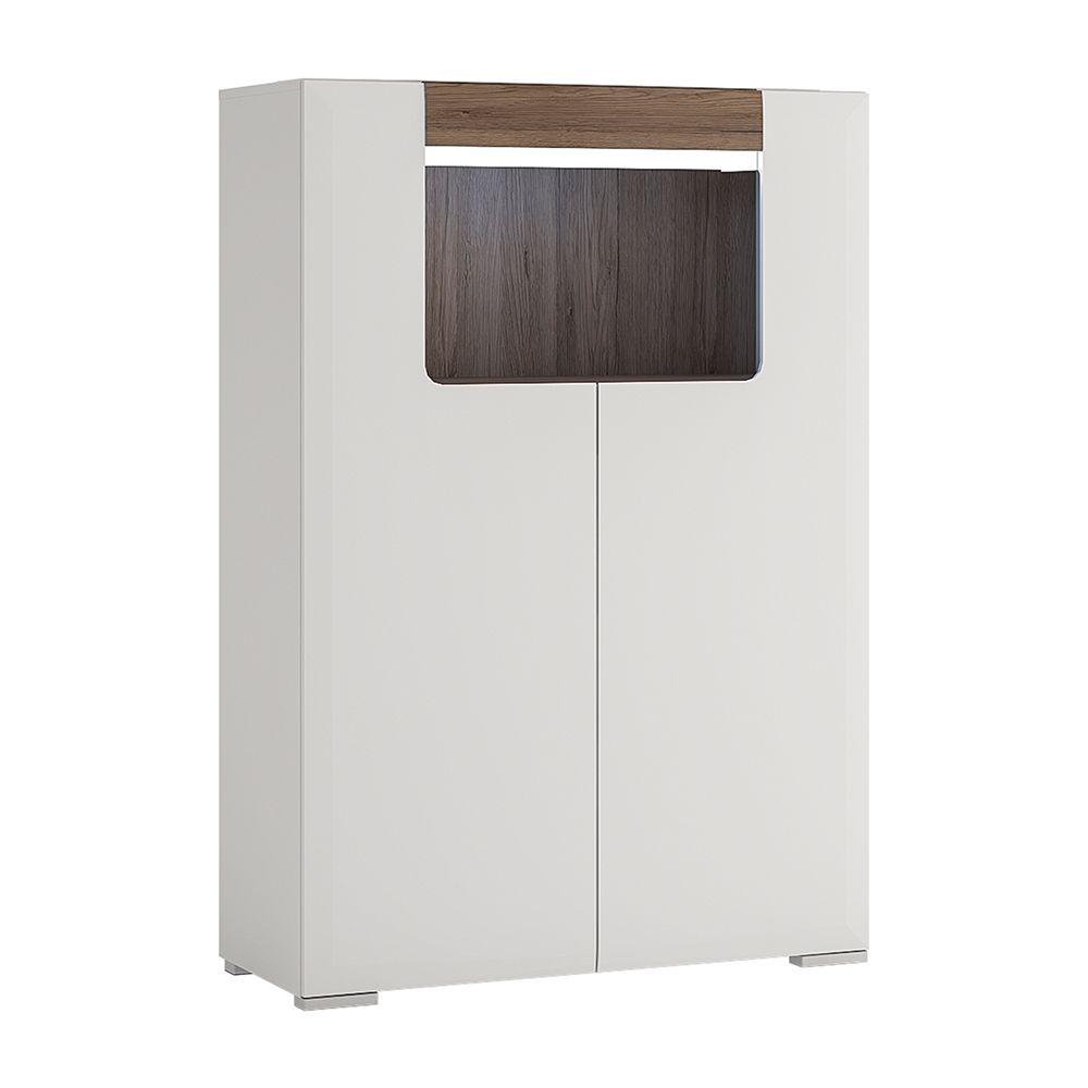 Canada Low 2 Door cabinet with open shelf (inc Plexi Lighting)