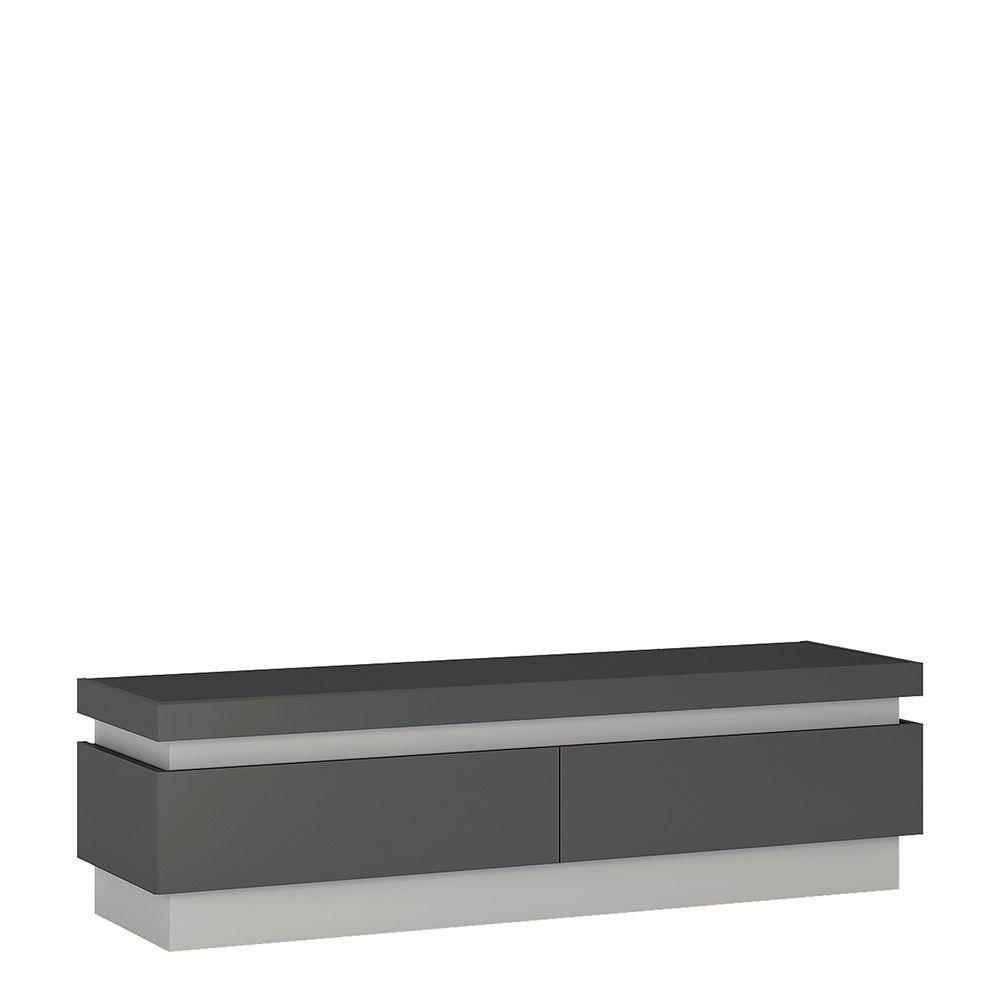 Lion 2 drawer TV cabinet (including LED lighting)