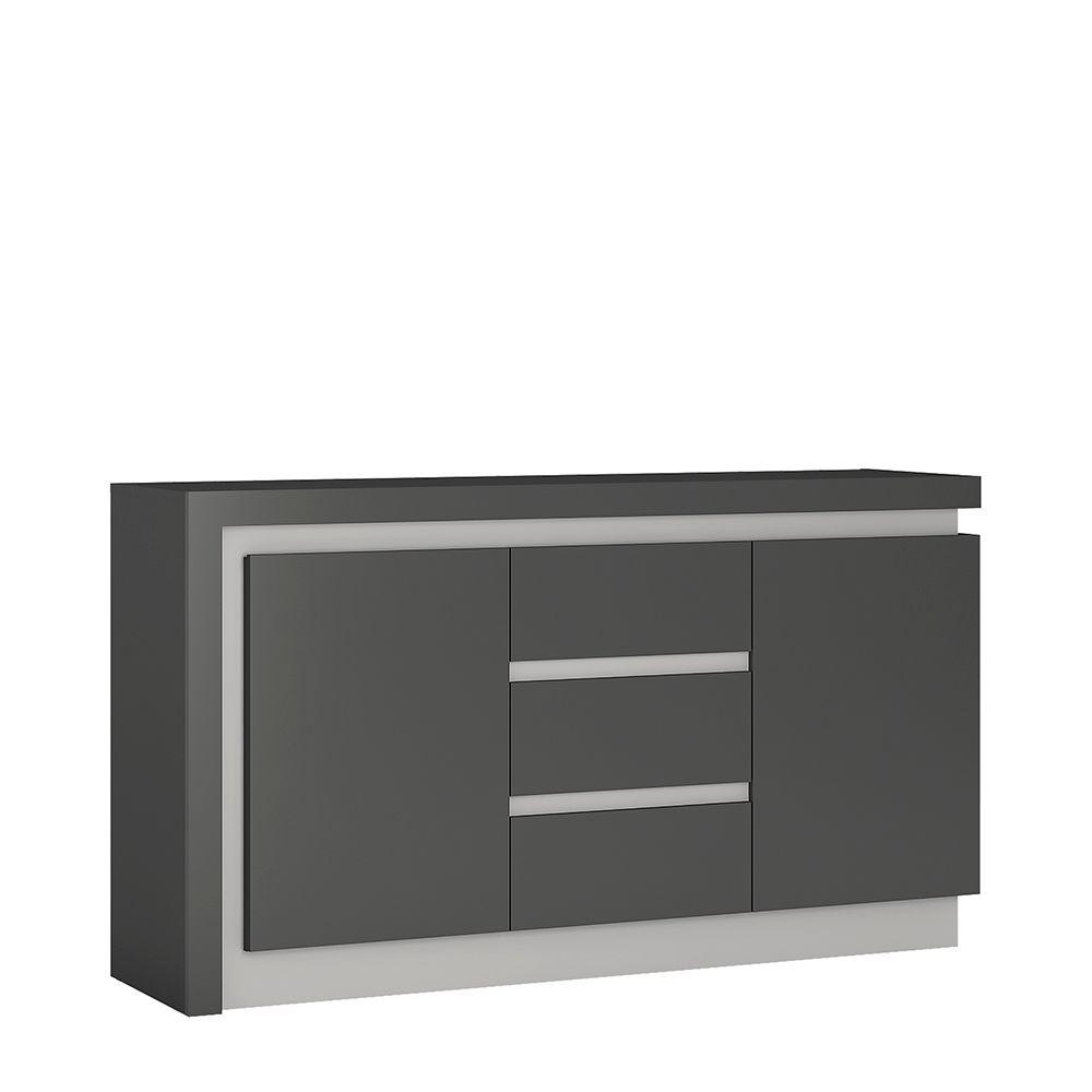 Lion 2 door 3 drawer sideboard (including LED lighting)