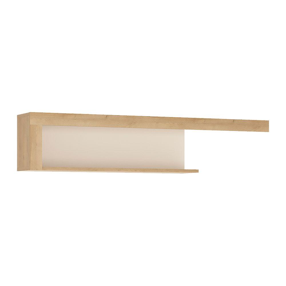 Lion White 130cm wall shelf