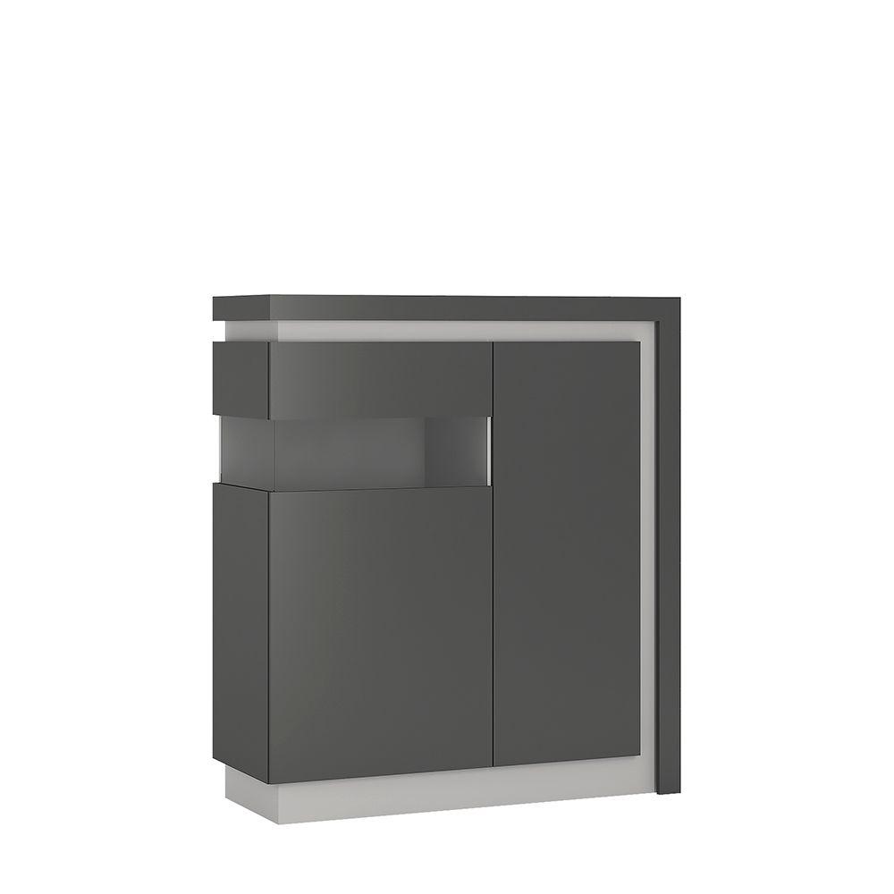 Lion 2 door designer cabinet (LH) (including LED lighting)