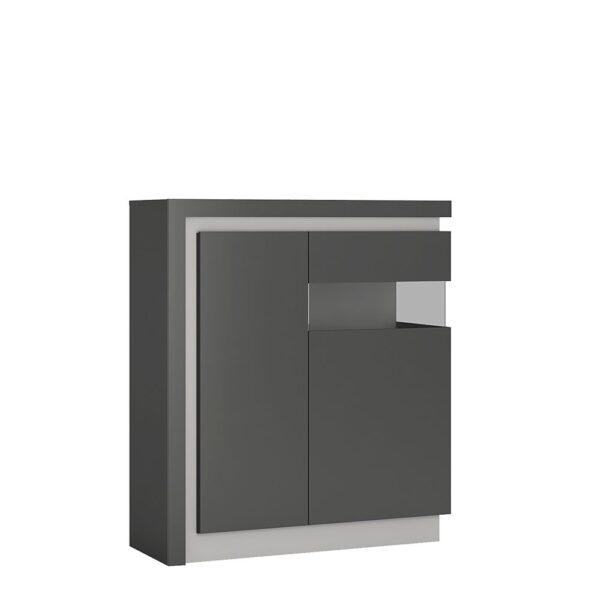 Lion 2 door designer cabinet (RH) (including LED lighting)