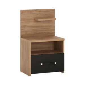 Naco 1 drawer bedside with open shelf (RH)