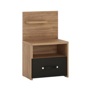 Naco 1 drawer bedside with open shelf (LH)