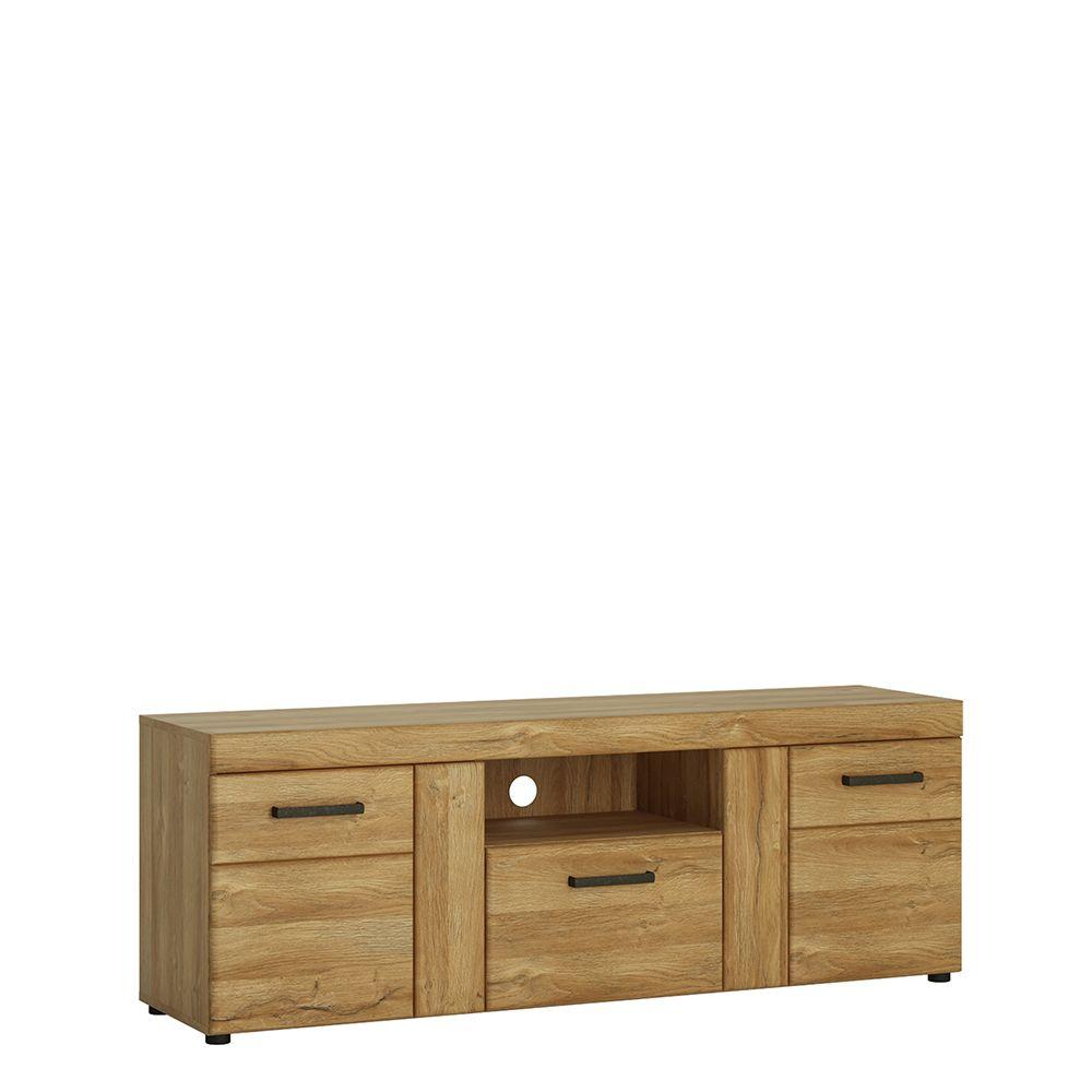 Bold 2 door 1 drawer tall TV cabinet