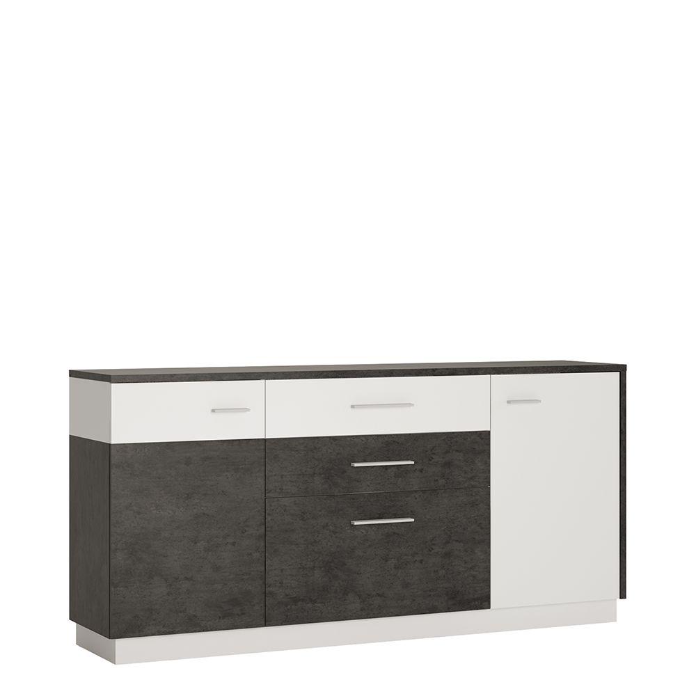 Gerzing 2 door 2 drawer 1 compartment sideboard