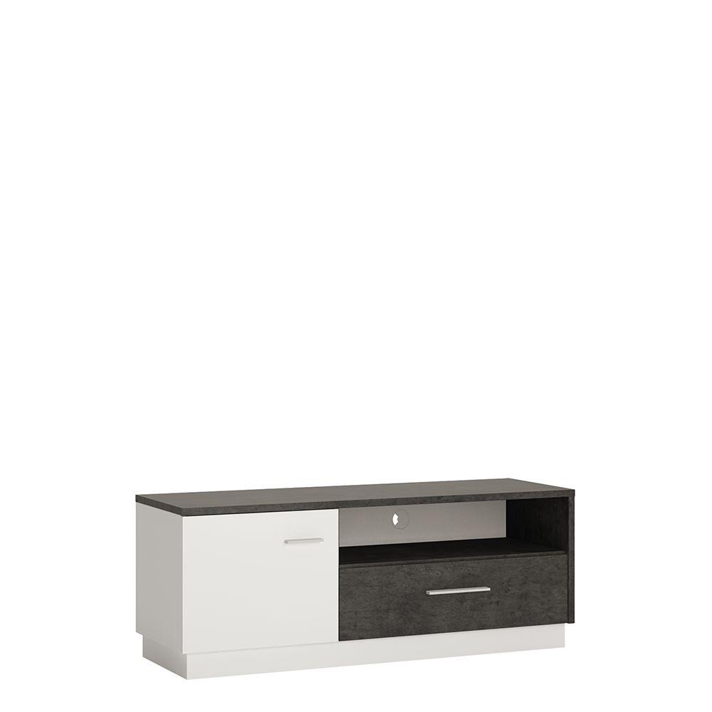 Gerzing 1 door 1 drawer TV cabinet