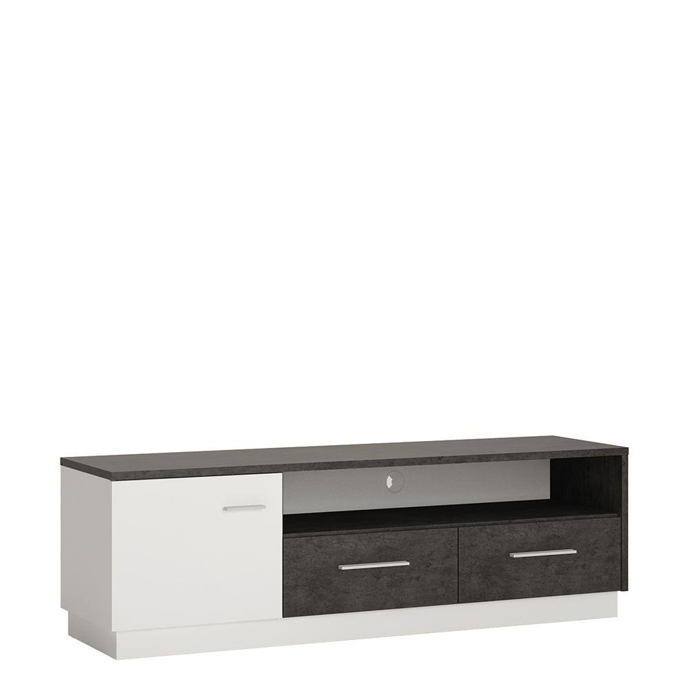 Gerzing 1 door 2 drawer wide TV cabinet