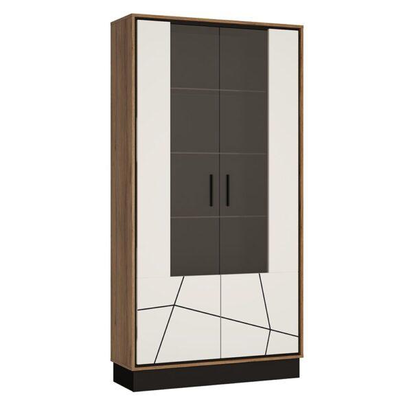 Yolo Tall wide glazed display cabinet