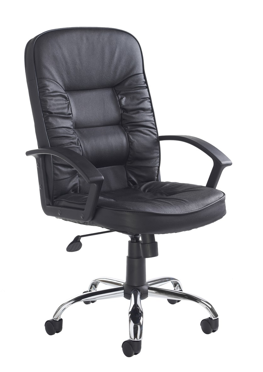Here Black Leather Executive Swivel Office Chair