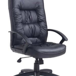 Kinn Leather Faced Swivel Office Chair