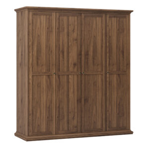 Wardrobe with 4 Doors in Walnut