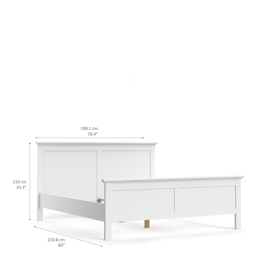 Super King Bed (180 x 200) in White