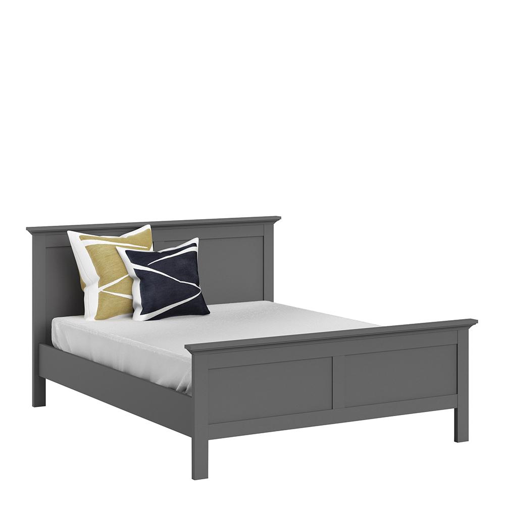King Bed (160 x 200) in Matt Grey