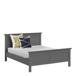 King Bed (160 x 200) in Matt Grey